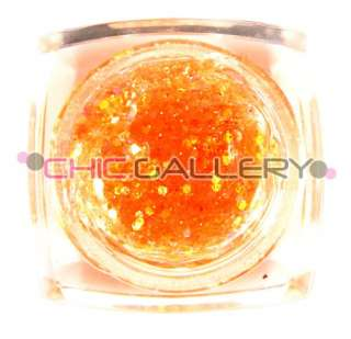12 x Hexagon Glitter Color UV Gel Nail Art #299