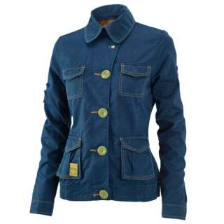 Adidas Originals Womens Blue Safety Jacket Coat