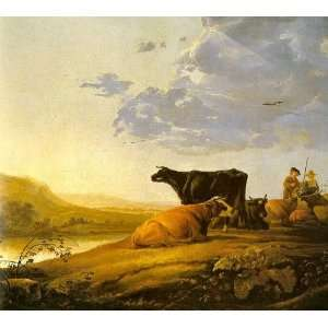 Cuyp   24 x 22 inches   Young Herdsman with Cows: Home & Kitchen
