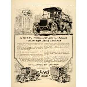 1917 Ad General Motors Truck GMC Delivery Pontiac MI