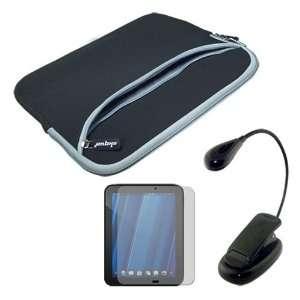 Premium Black Dual Pocket Carrying Case + Screen Protector