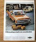 1967 CHEVROLET Custom Sport Pickup Truck magazine Ad half ton work
