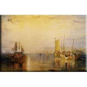 Sunrise. Whiting Fishing at Margate 16x10 Streched Canvas