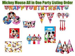 Minnie Mouse Club House Disney Birthday All in One Party Supply