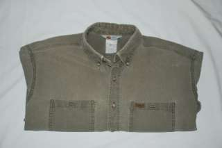 MENS SZ X LARGE CARHARTT LONG SLEEVE WORK SHIRT