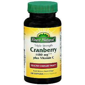 Finest Natural Cranberry Plus Vitamin C Triple Strength Softgels, 100