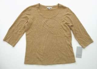 NWT Tan MERCER STREET STUDIO Soft 3/4 Sleeve Sweater M