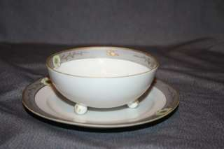 Hand Painted Nippon Mayonnaise Bowl & Plate