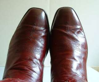 Mens Cowboy Boots  Custom Made   Deep Red   9 1/2 D