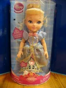 Toddler Princess Cinderella Doll NIB Tiara