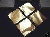 5x4.5cm imitated BRASS 100 sheet leaf Art Decal Gild