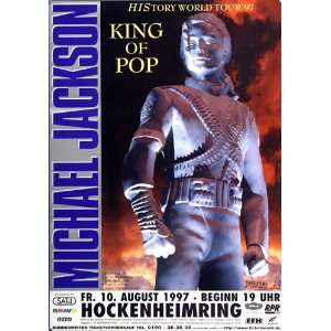 Michael Jackson   King of Pop 1997   CONCERT   POSTER from