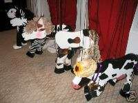 FARM ANIMAL COW CAT ZEBRA HORSE MARIONETTE Marionettes