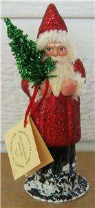Ino Schaller Paper Mache Red Santa Claus Candy Container Bavaria
