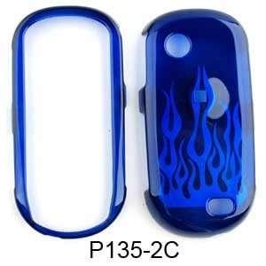 Samsung Sunburst A697 Transperent Blue Flame Hard Case/Cover/Faceplate