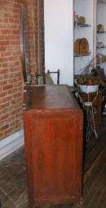 Old Antique Solid Wood Three Drawer Bedroom Dresser Vanity w/ Aged