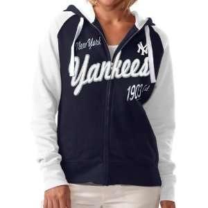 Ladies Navy Blue Inductee Full Zip Hoody Sweatshirt