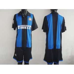 inter milan home blue/black soccer jerseys and shorts soccer Sports