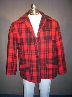 VTg Chippewa Wool Plaid Mackinaw Cruiser Jacket/Coat XL