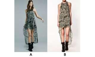 Prints Sexy Elegant Hem Asymmetric Long Maxi Skirt Dress Jfn