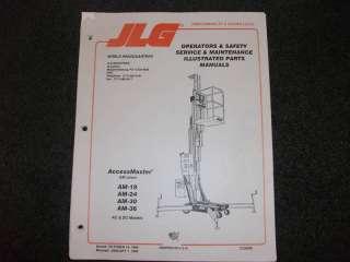 JLG AM19/AM24/AM30/AM36 Oper parts service maint manual