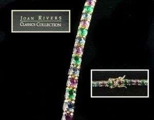 Joan Rivers Multi Color Rhinestone Line/Tennis Bracelet