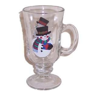 Libbey Made in USA Snowman Irish Coffee Mug Set of 4