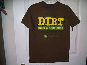 John Deere Tractor Dirt Good Shirt Boys Size 14/16 NWT
