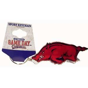 NCAA Arkansas Razorbacks Mirrored Keychain Running Hog