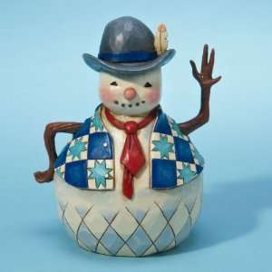 Jim Shore Heartwood Creek Snowman with Tie *NEW 2011