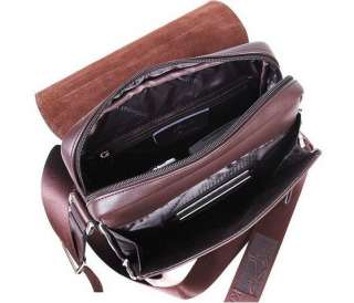 New Mens Kangaroo Brown Leather Shoulder Messenger Bag Briefcase