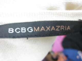 BCBG MAX AZRIA Brown Beige Tie Dye Cardigan Top Sz S