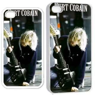 KURT COBAIN NIRVANA P iPhone 4 4S Hard Case Cover Holder White Gift