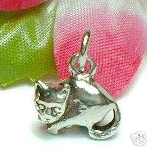 925 STERLING SILVER KITTY CAT CHARM / PENDANT #13