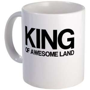 King of Awesome Land Funny Mug by CafePress: Kitchen