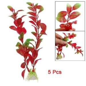 Como Landscaping Aquarium Red Green Aquatic Plants Decor 5