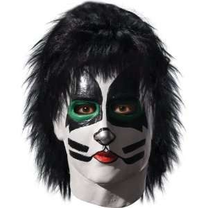 By Rubies Costumes KISS   Catman Deluxe Latex Full Mask With Hair