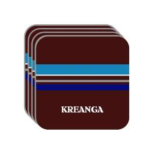 Personal Name Gift   KREANGA Set of 4 Mini Mousepad Coasters (blue