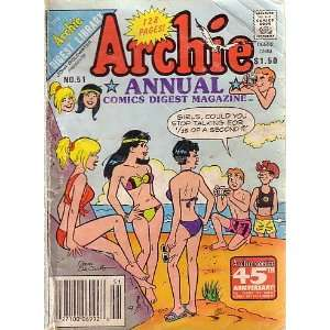 ARCHIE ANNUAL COMICS DIGEST MAGAZINE, #51 ARCHIE COMICS Books