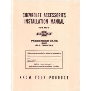 1950 CHEVROLET CAR TRUCK Accessory Installation Manual