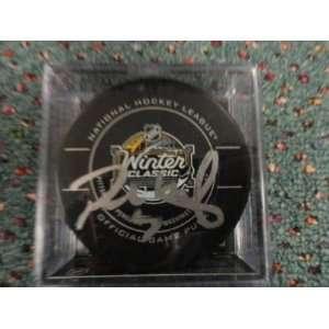 Paul Martin Hockey Puck   2011 Winter Classic   Autographed NHL