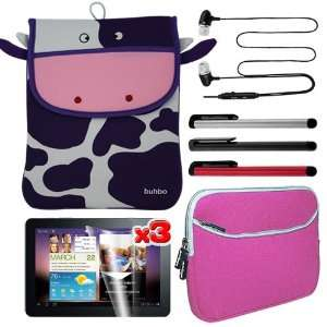 Pen + Pink Dual Pocket Carrying Case for Samsung Galaxy TAB 10.1 P7100