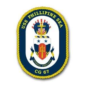 US Navy Ship USS Phillipine Sea CG 67 Decal Sticker 3.8