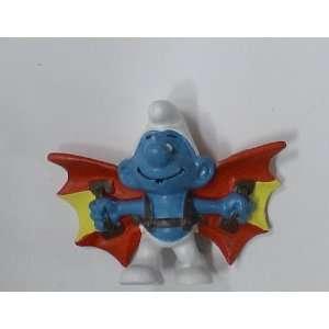 Vintage Smurfs Pvc Figure  Flying Machine Smurf