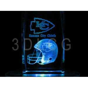 NFL Kansas City Chiefs 3D Laser Etched Crystal Everything