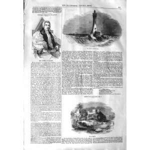 1843 BELL ROCK LIGHTHOUSE BISHOP EXETER FLY FISHING