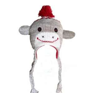 Baby Sock Monkey Animal Hat with Fleece Lining Everything
