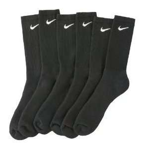 Nike Mens Performance Cotton Cushioned Crew Sock (Black / Large / 3