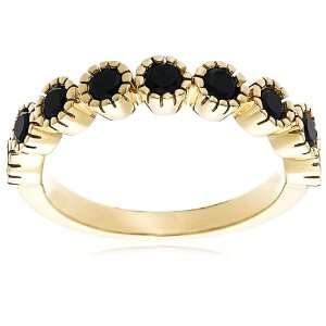 10k Yellow Gold Black Diamond Ring (3/4 cttw), Size 6