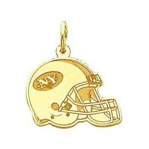 14K Gold NFL New York Jets Football Helmet Charm Sports